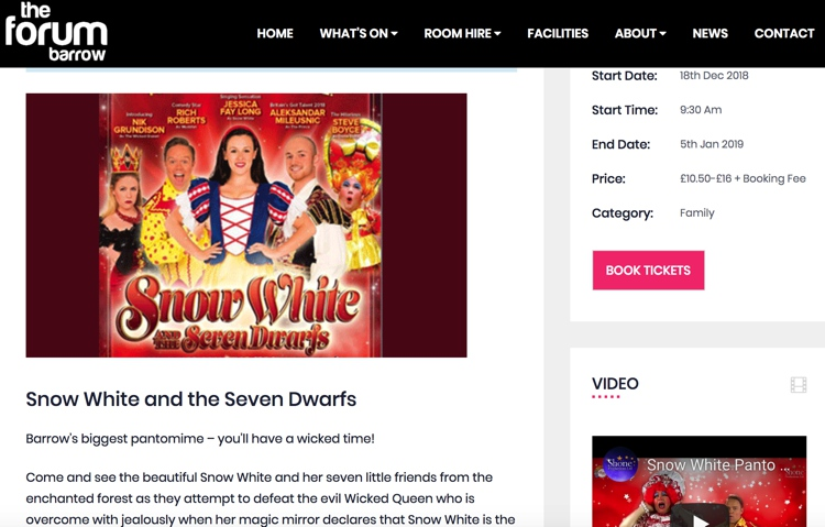 Snow White at the Forum in Barrow