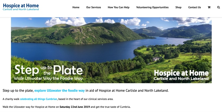 Step up to the Plate: Walk the Ullswater Way for Hospice at Home June 2019