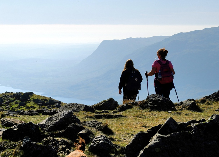 Women hiking in the Lake District