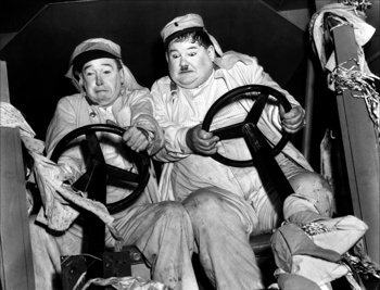 Laurel & Hardy, comedians