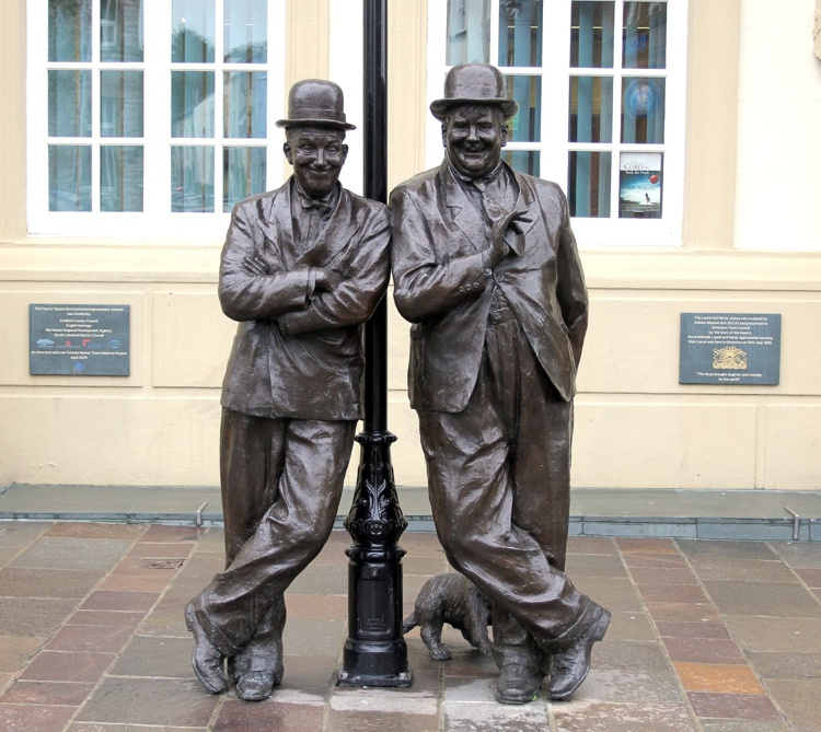Laurel & Hardy Statue in Ulverston