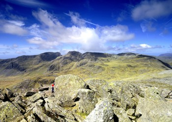 Views of the Scafell Range from the Bowfell summit
