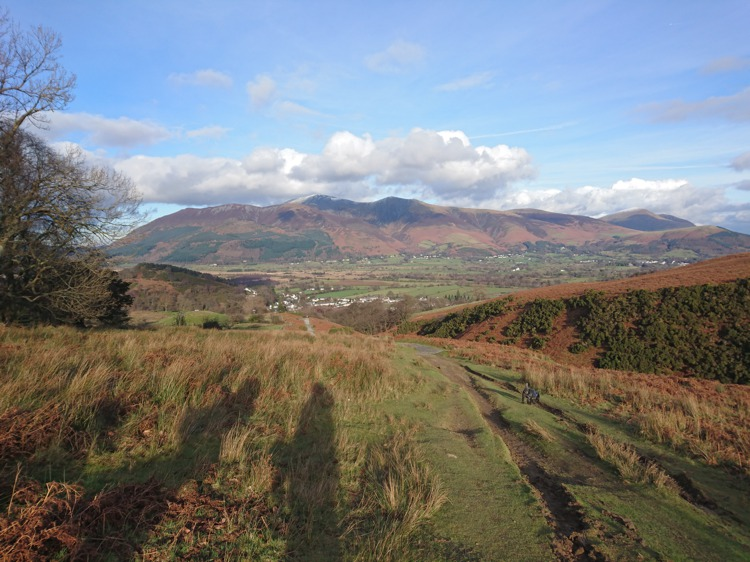 The Path Leading Down Stile End, Skiddaw in the Distance