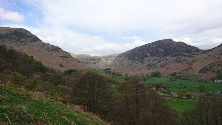 The View from the Path towards Sheffield Pike and Glenridding Mine