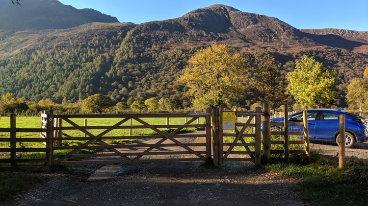 The Gate Leading to the Lake Path, Dodd Summit Directly Ahead