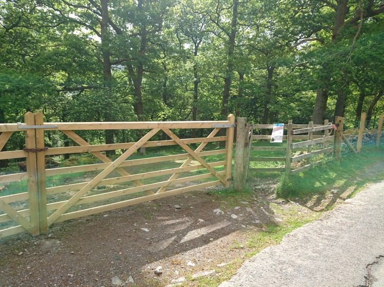 The Gate Leading Into Brandelhow Park