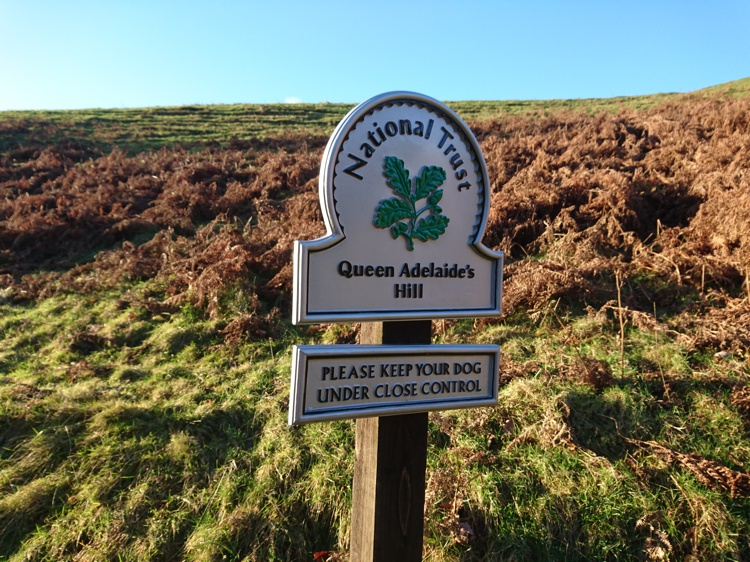 Sign Marking Queen Adelaide's Hill
