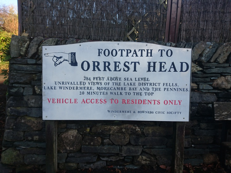 Orrest Head Sign