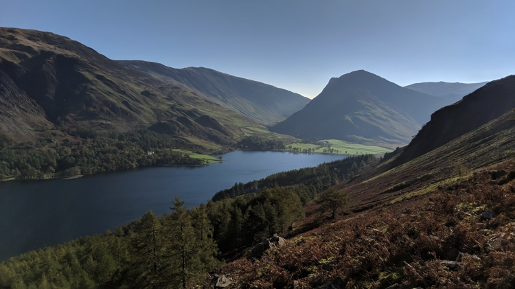 The View of Buttermere & Fleetwith Pike from the Path