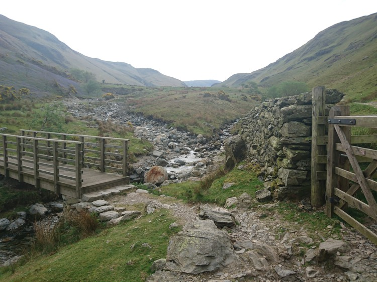 The Bridge Back to Rannerdale Bridge and Gate Leading to Buttermere