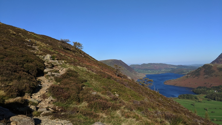 The View of Crummock Water Near the Top of Sourmilk Gill