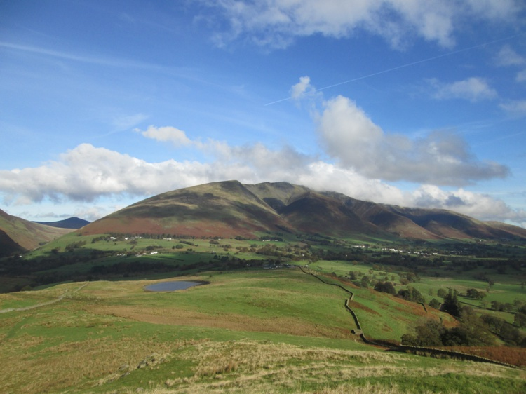 Blencathra and Tewet Tarn from Low Rigg