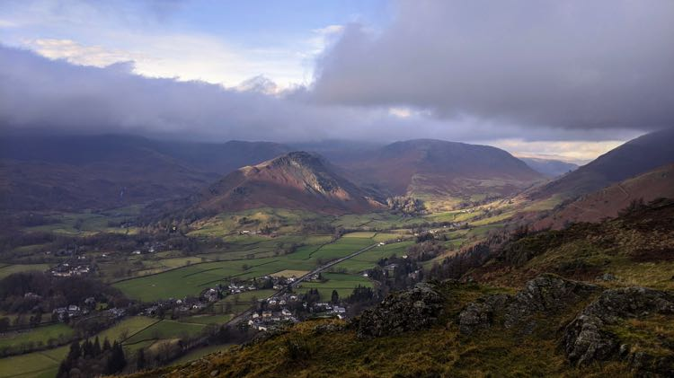 Helm Crag as seen from near the top of Grey Crag