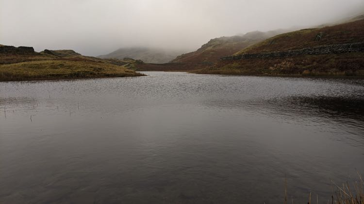 A very cloudy Alcock Tarn