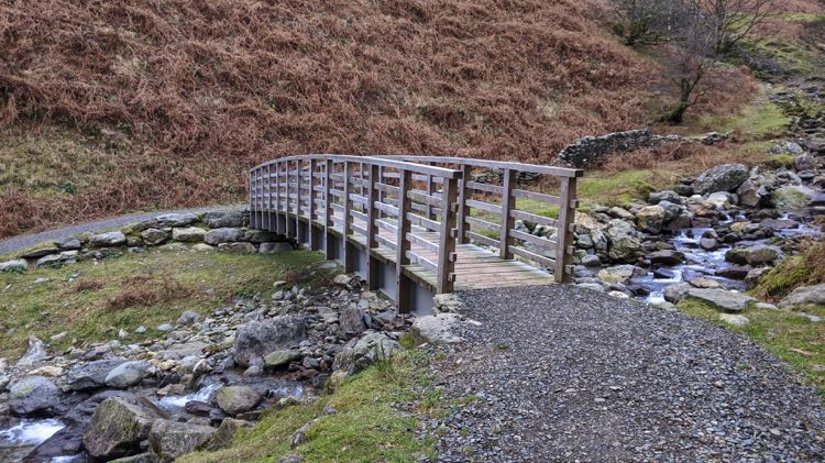 The footbridge over Greenhead Gill