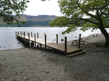 Jetty for the Keswick Launch