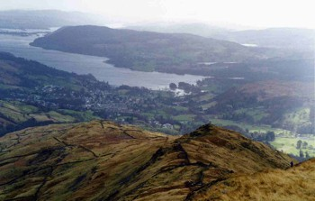 Low Pike and Windermere as seen from High Pike