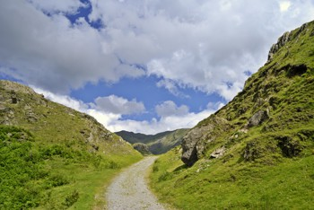 Footpath leading to Old Man of Coniston