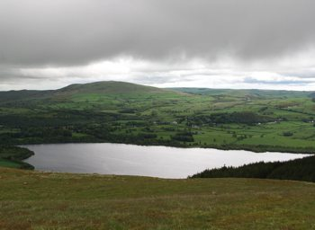 The northeastern view from the summit of Sale Fell